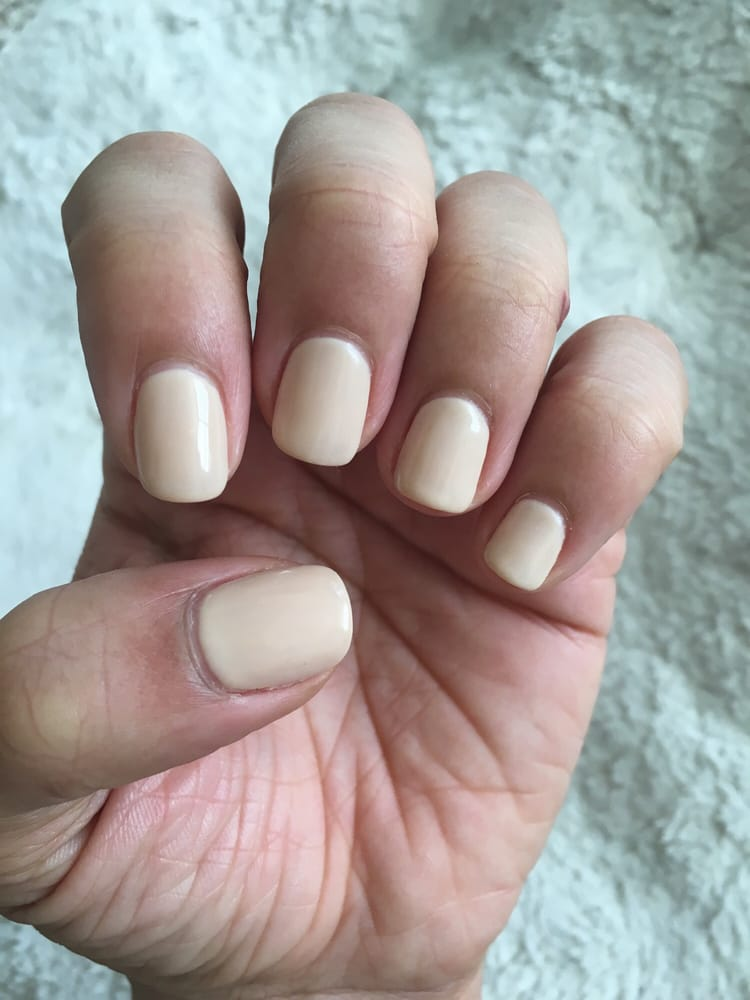 One week after getting three light coats of a Gelish brand no-chip ...