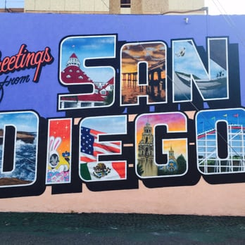 Wonderful Photo Of Greetings From San Diego Mural By Greetings Tour   San Diego, CA,