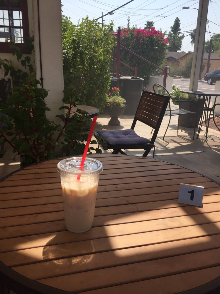 Photo of Hob Nobs - Phoenix, AZ, United States. Chai Tea, misters - Chai Tea, Misters On The Patio. Relaxing On My Lunch Break - Yelp