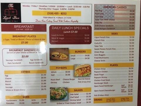 The Lunchbox: 7568 Gilbert St, Gilbert, LA
