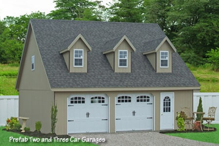 28x32 prefab two car garage in smithville pa buy this for Buy 2 car garage