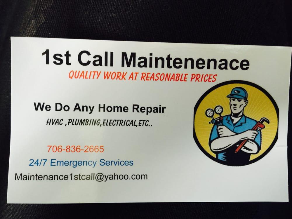 1st Call Maintenance: Augusta, GA