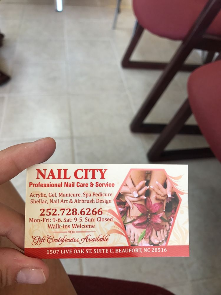 Nails City: 1507 Live Oak St, Beaufort, NC