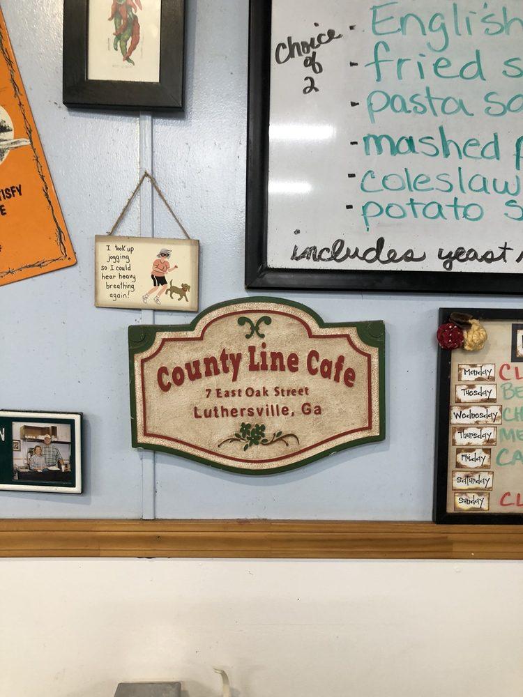 Countyline Cafe: 7 E Oak St, Luthersville, GA