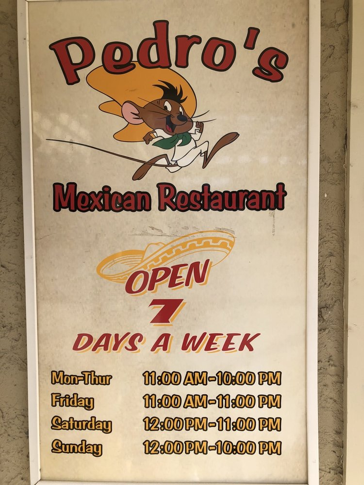 Pedro's Mexican Restaurant: 10708 Broad River Rd, Irmo, SC