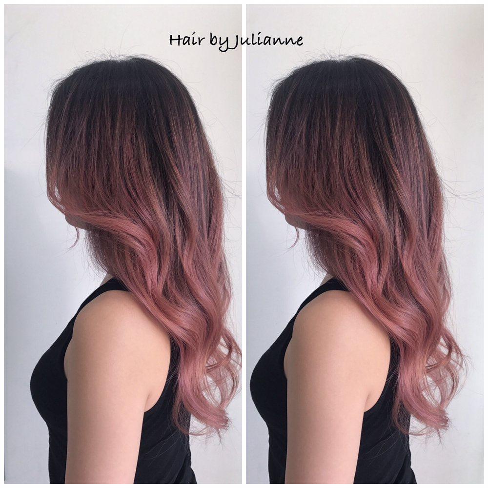 Pink Balayage Ombre Hair W Olaplex Yelp