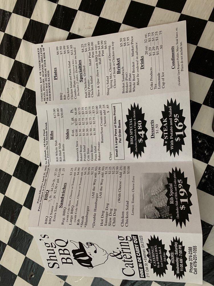 Shugg's BBQ: 211 Oak St, Eastman, GA
