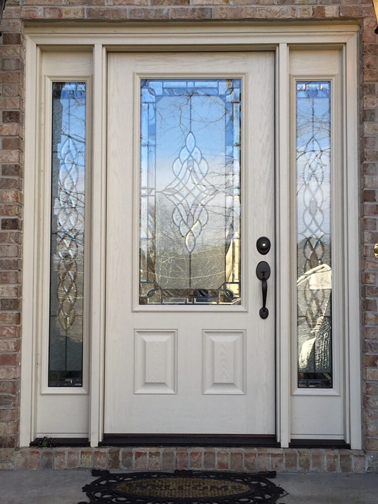 Clopay Arbor Grove Entry Door With Addison Glass Yelp