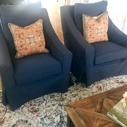 Photo Of Nest Furnishings   Fort Mill, SC, United States. Slipcovered Chairs  Stationary