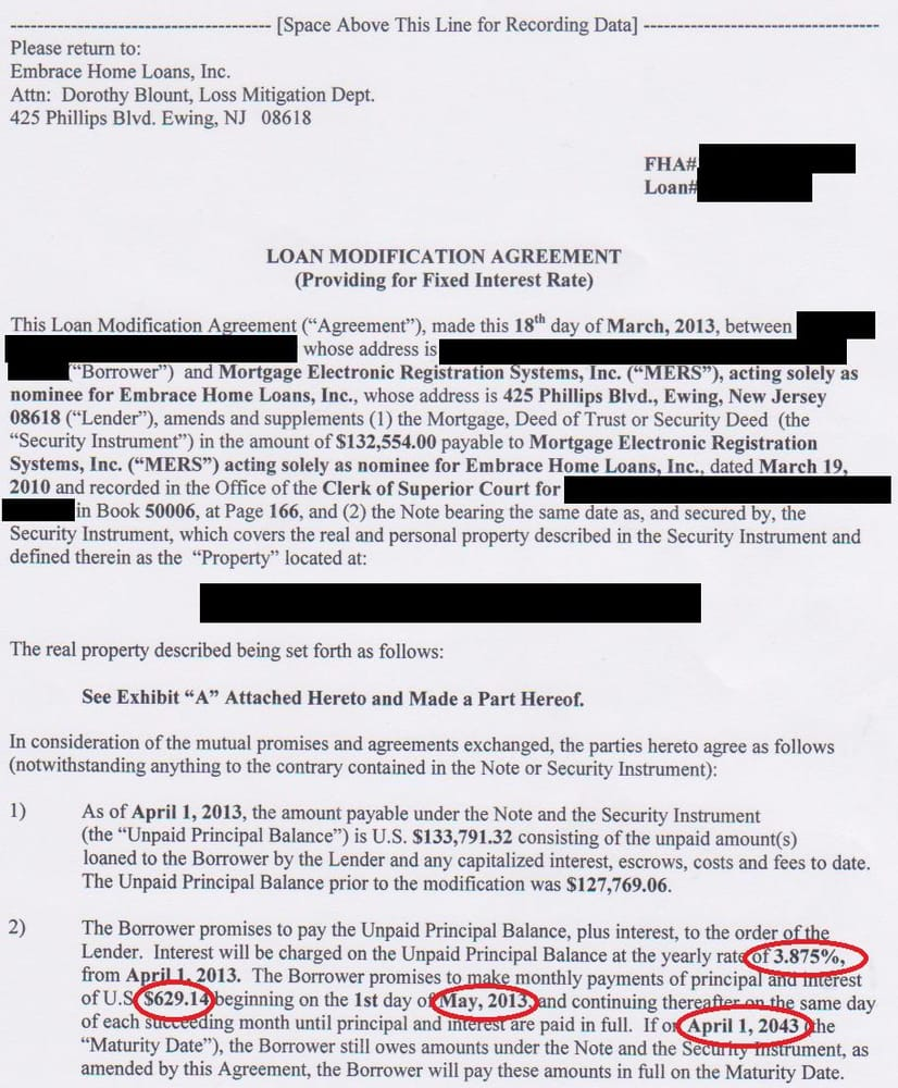Seterus Loan Modification Approval Borrower Was 3 Months Behind On