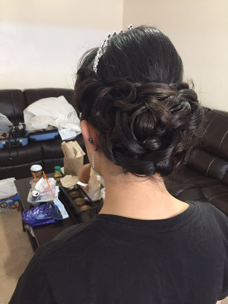 Back of my hair done by hana for my big day yelp for La bella vita salon