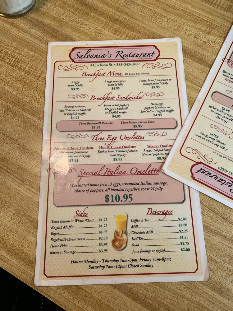 Salvania's Restaurant & Catering: 41 Jackson St, Batavia, NY