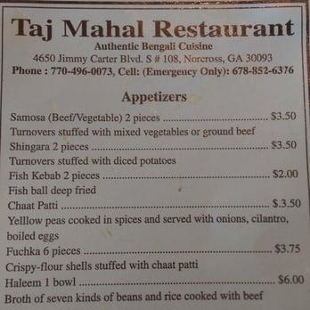 Taj Mahal Restaurant Norcross Ga