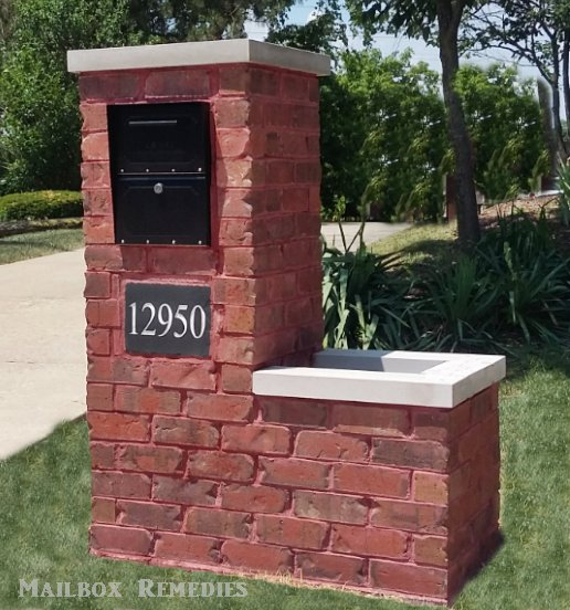 Photo Of Mailbox Remes Plainfield Il United States Brick With Planter