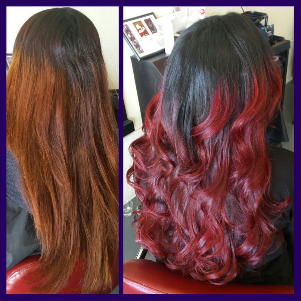 Before and after hair by jessica m yelp - The catwalk hair salon ...