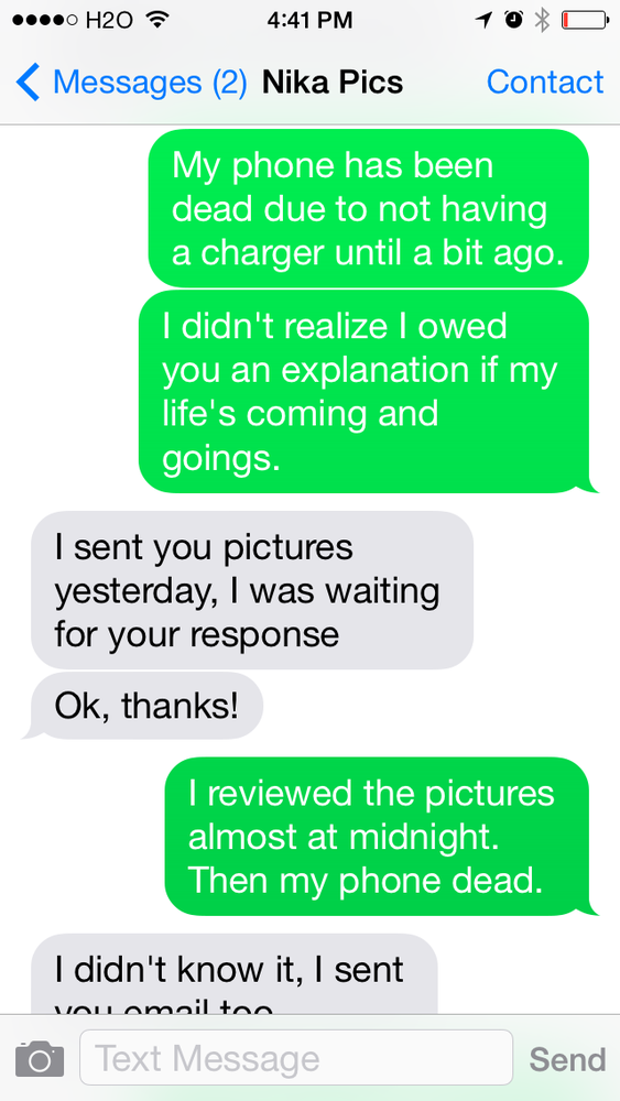 Messages wife sexting Caught Wife