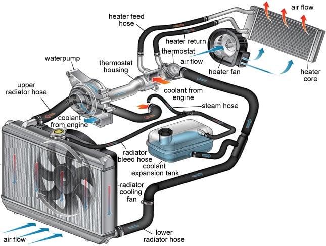 Cooling System Diagram Radiator Services Blenheim NZ