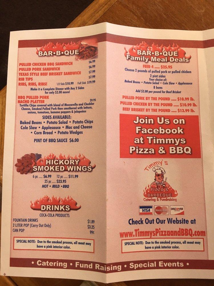 Timmy's Pizza & BBQ: 105 N Randolph St, Garrett, IN
