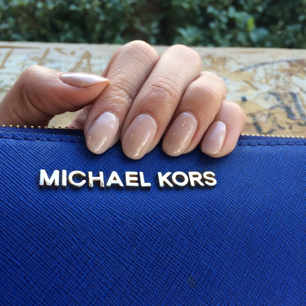 Shellac manicure. Growing out my natural nails. Venice Nails and Spa ...