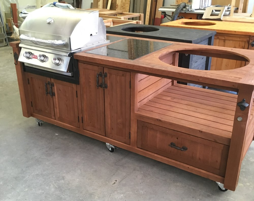 Mini Outdoor Kitchen For Your Gas Grill Drop-in And Big Green Egg, Kamado Joe, Primo Or Other