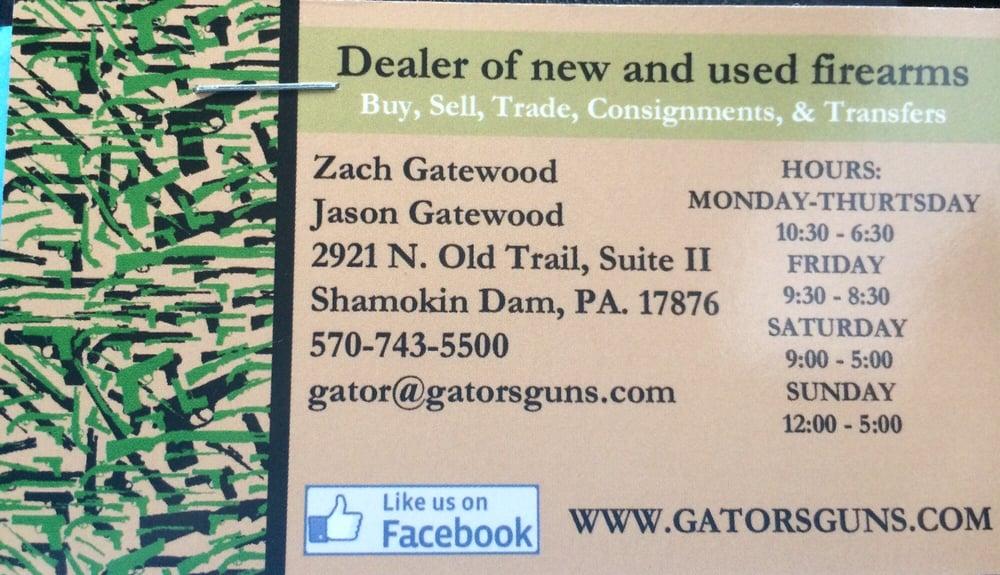 Gator's Guns: 2921 N Old Trl, Shamokin Dam, PA