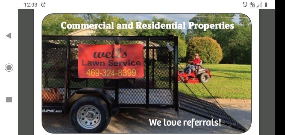 Wells Lawn Service: Crandall, TX