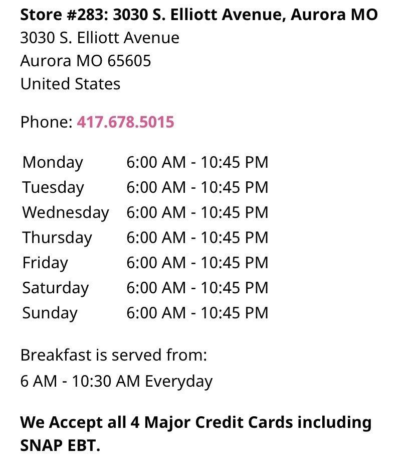 Braum's: 3030 S Elliott Ave, Aurora, MO