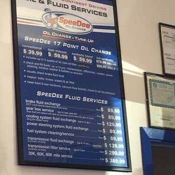 Tune Up Prices >> Speedee Oil Change Auto Service 2019 All You Need To
