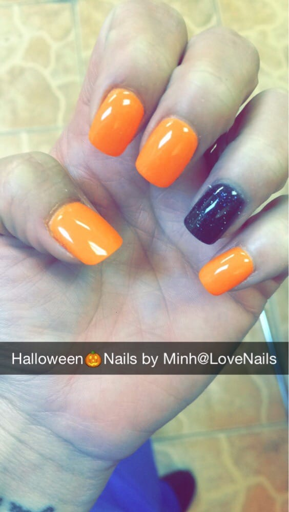 My Halloween Nails! These are NexGen colors: #354 & #129 ...