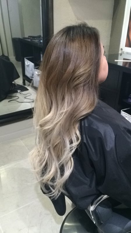 Ash blonde ombre on Asian hair - Yelp