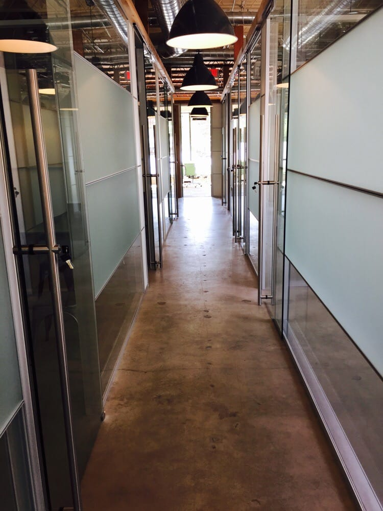 Double Pan Frosted Glass Offices With Giant Sliding Glass Doors Yelp