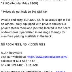 Photo of A U N Body Care - Vancouver, BC, Canada