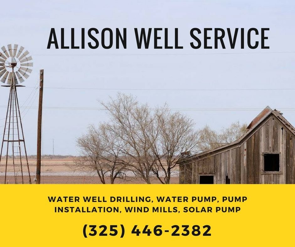 Allison Water Well Drilling & Services: 191 Allison Rd, Junction, TX