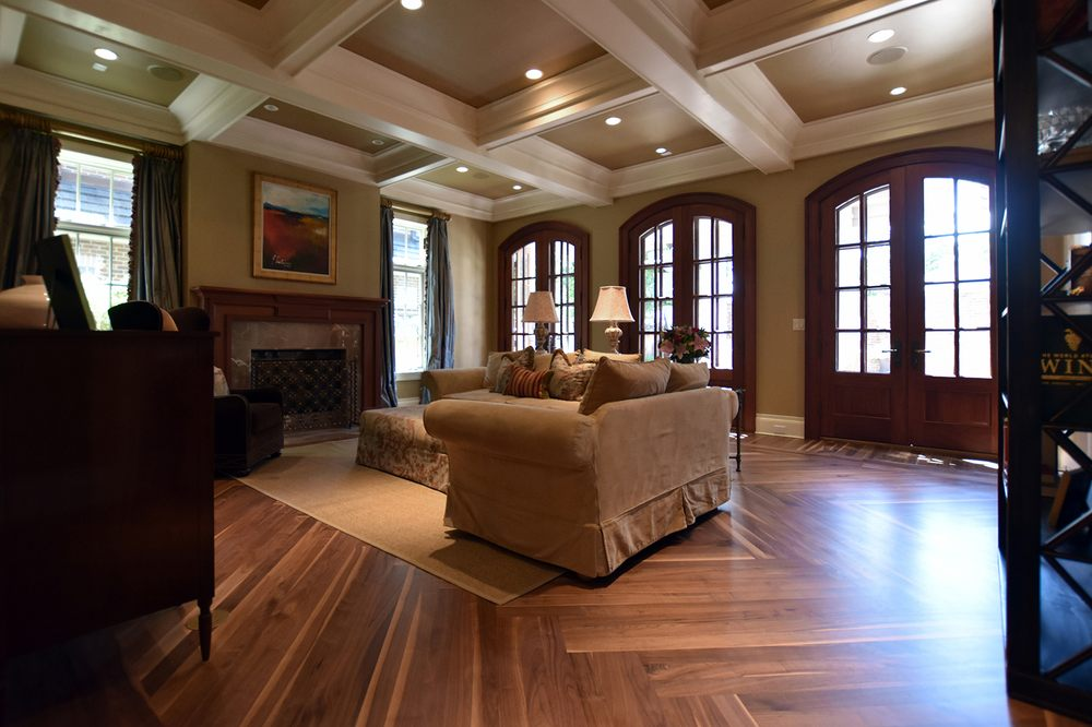 Wide Plank Walnut Floors Laid In Herringbone Pattern Yelp