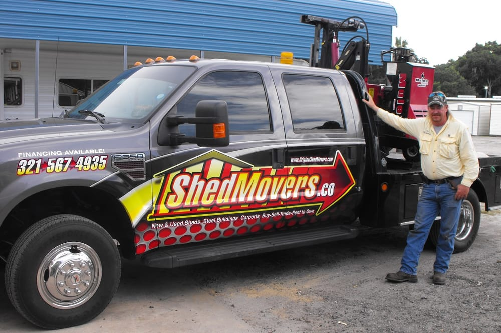 Shed Movers: 521 N Washington Ave, Titusville, FL