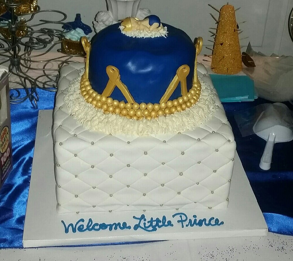 My Baby Shower Cake I Had A Royal Prince Theme The Cake Was A Tier