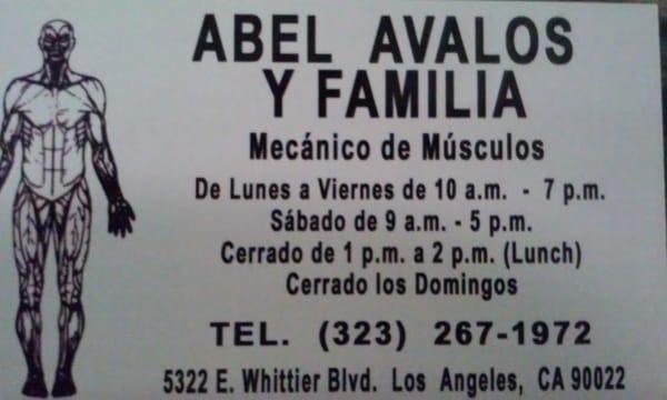 Abel Avalos Y Familia - Mecanico de Musculos 5322 Whittier