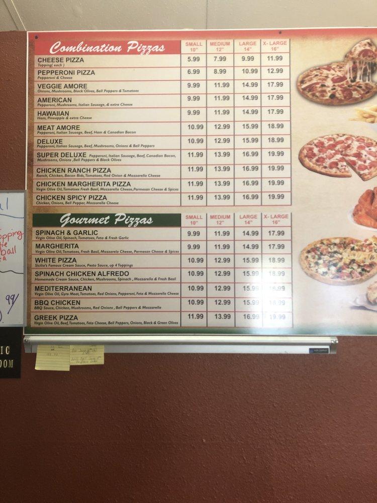 Lucky pizza: 116 E Pierce St, Luling, TX