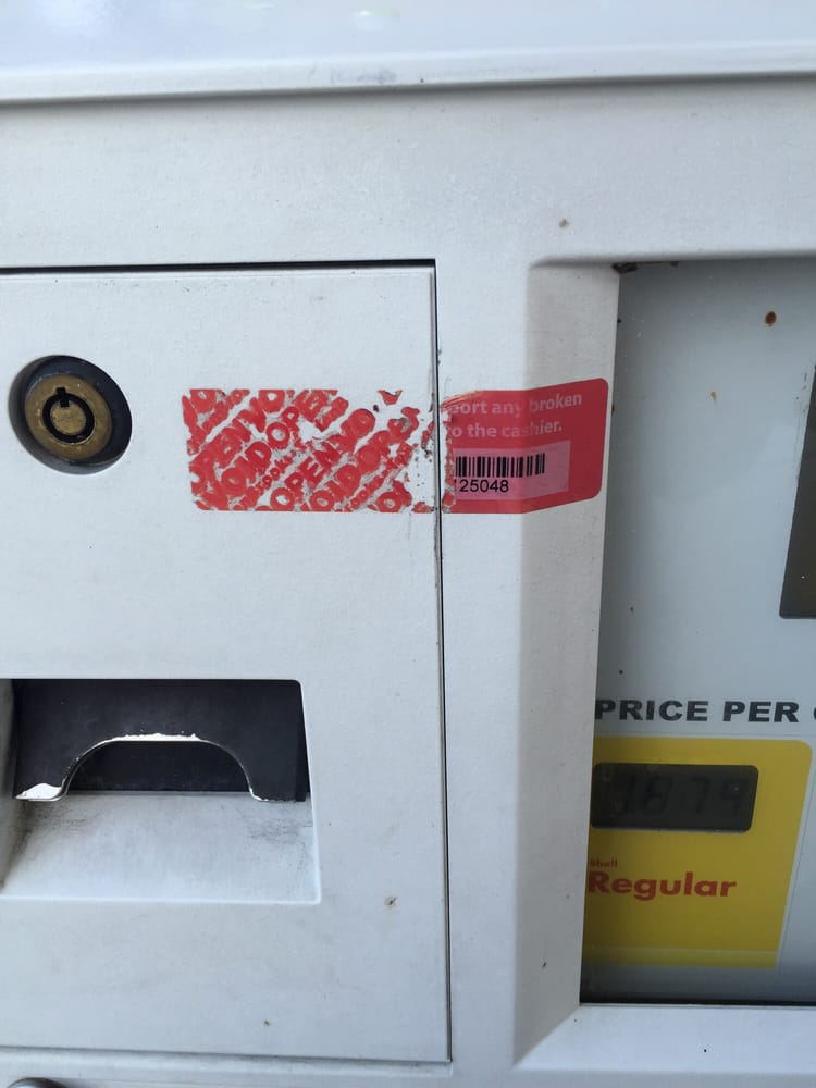 Every single pump at this gas station have us a broken seal