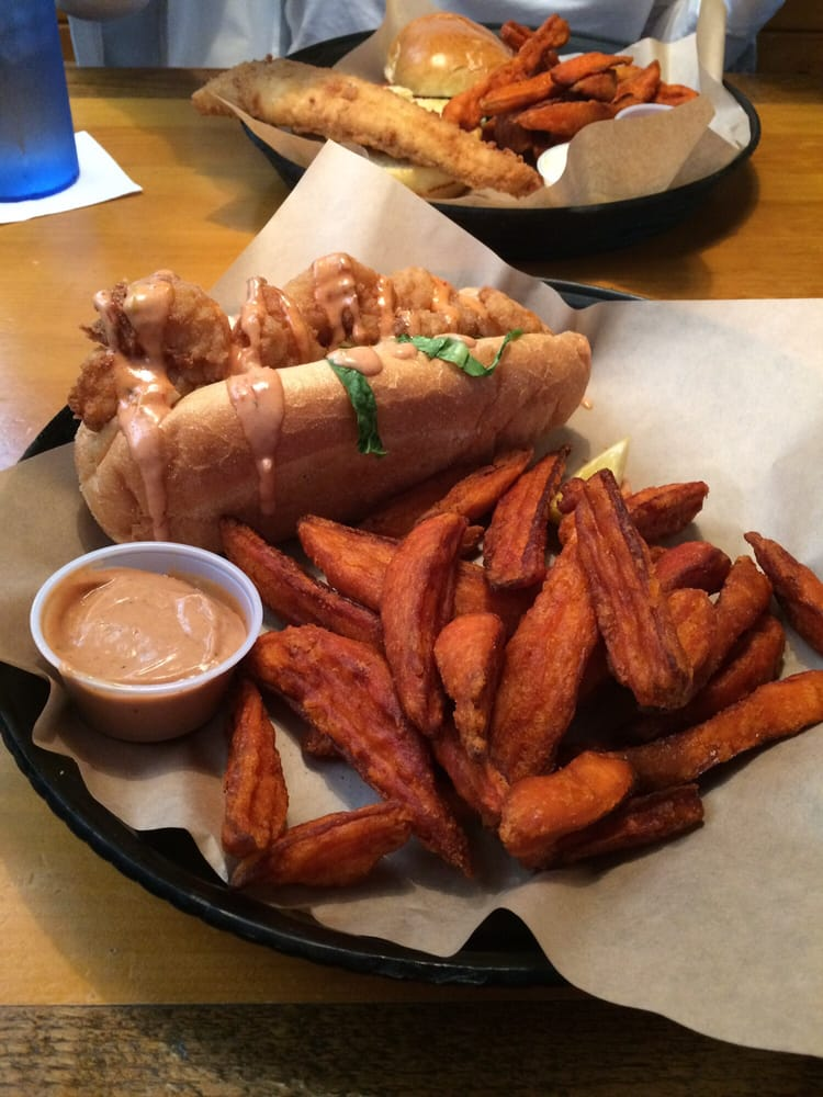 Shrimp po boy flounder sandwich yelp for Lawrence s fish and shrimp