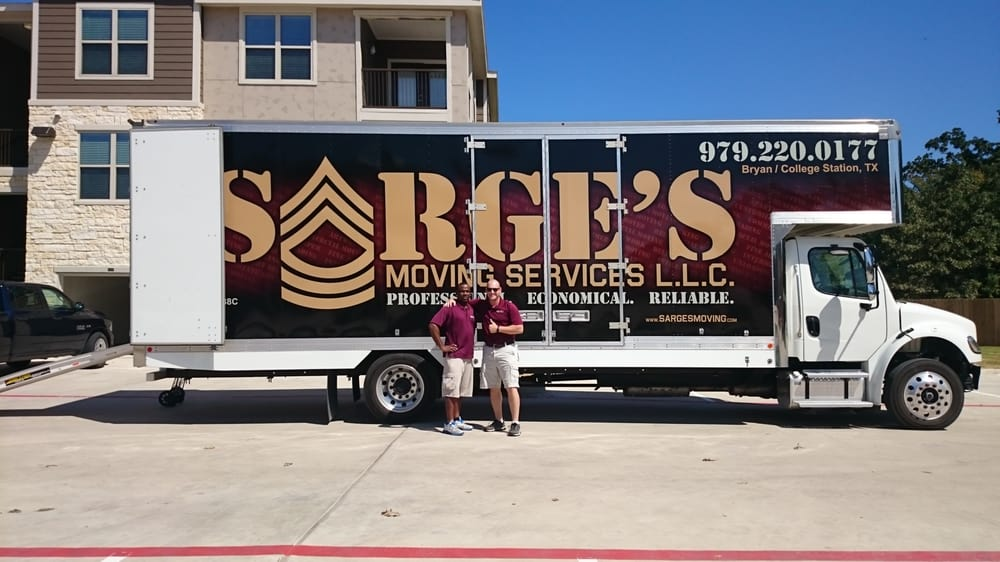Sarge's Moving Services: 17333 Hwy 6 S, College Station, TX