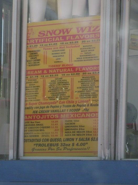 Mr. G's Snow Wiz: 5200 Paredes Line Rd, Brownsville, TX