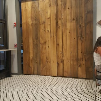 Sliding Barn Door Entrance To Forge Coffee Shop Is Open When