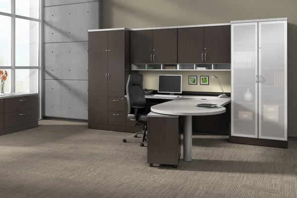 L Shape Executive Desk With Overhead Storage Yelp
