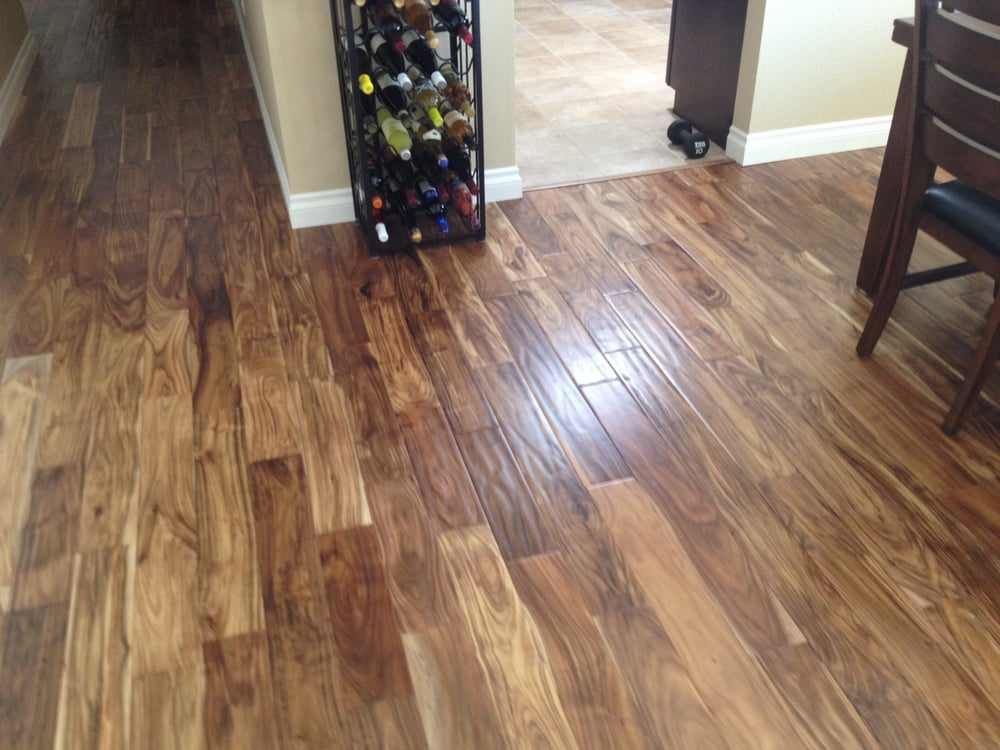 Acacia natural hand scraped hardwood flooring yelp for Direct flooring