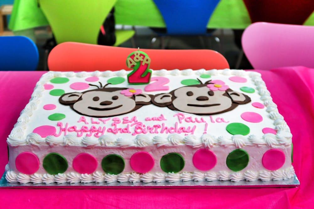 Twin Mod Monkey Cake For Girls 2nd Birthday Yelp
