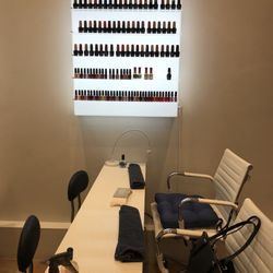 Photo Of Bleu Beauté Bar   Montreal, QC, Canada. Manicure Stations With  Comfy