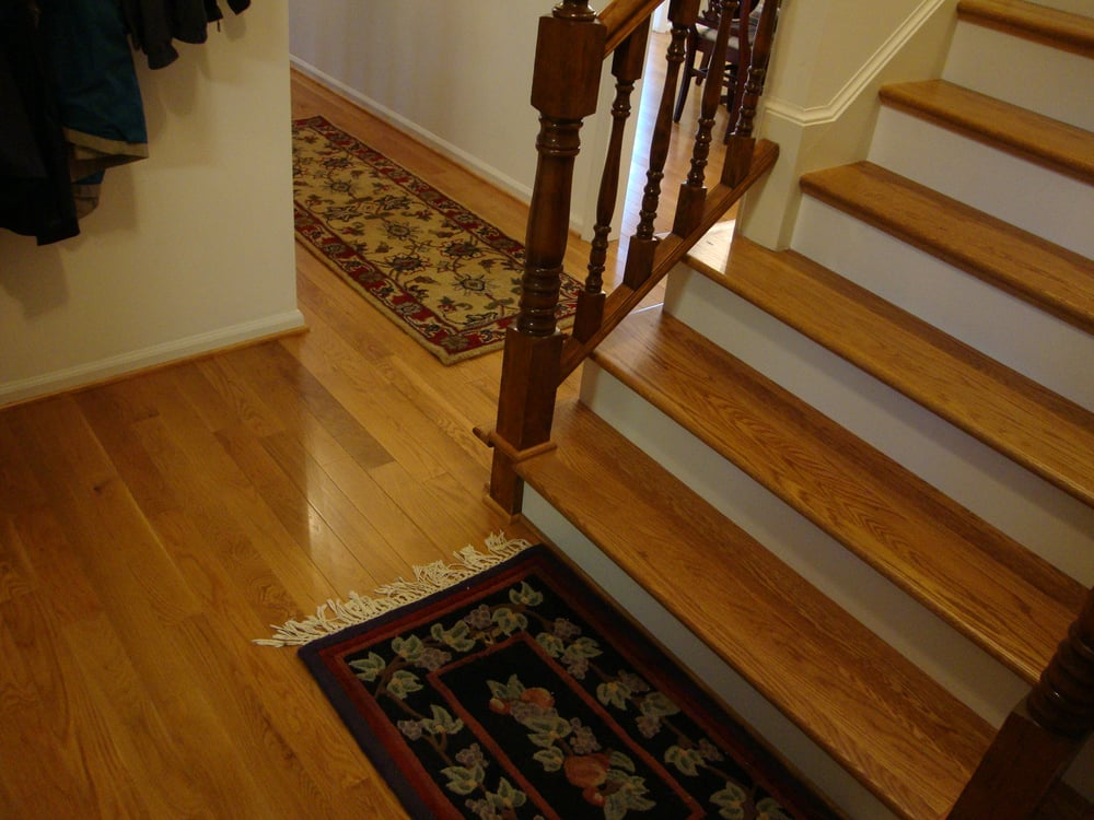 Wood floors and stair treads yelp for Hardwood floors unlimited