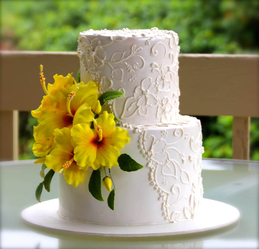 Wedding Cake With Hibiscus The Hawaii State Flower Yelp