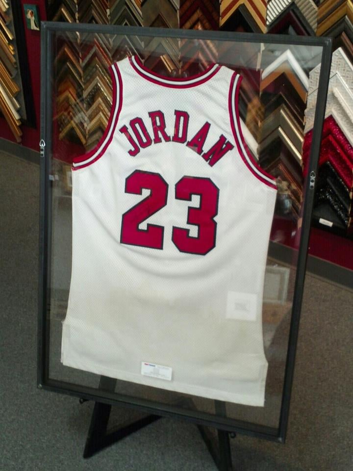 wholesale dealer eb8bc 15d13 Michael Jordan framed Jersey-Signed - Yelp
